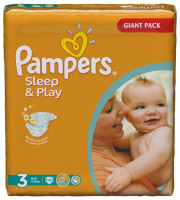 Подгузники Pampers Sleep & Play Midi 4-9 кг 100 шт. (3)
