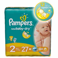 Подгузники Pampers New Baby (3-6кг) 27 шт