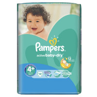 Подгузники Pampers Active Baby Maxi+  9-16 кг  18 шт. (4+)
