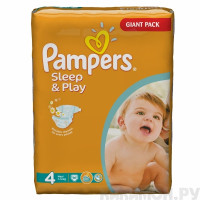 Подгузники Pampers Sleep & Play Maxi 7-14 кг 86 шт. (4)